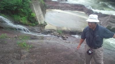 化石発見現場20120708