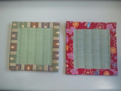 畳コースター試作品20120613