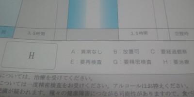 健康診断H判定20120818