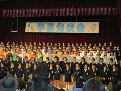 葵学習発表会20121117
