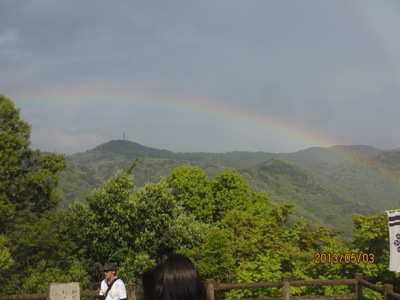 お城虹20130503
