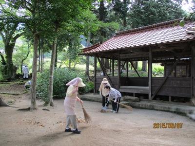 天王様草刈り20150607