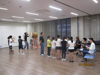 子ども音頭練習20150609