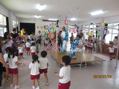 幼稚園松山踊り20130718