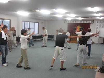 建労踊り練習20130805