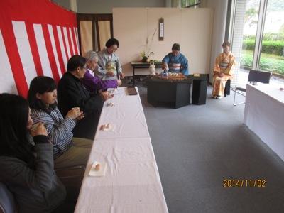 文化祭お茶席20141102
