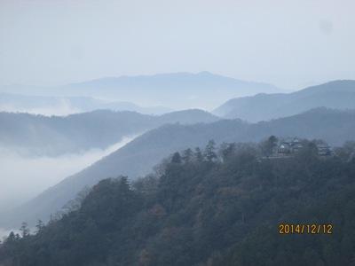 雲海お城20141212